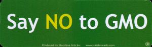 """Say No To GMO - Anti-GMO Small Bumper Sticker / Decal (5.5"""" x 1.75"""")"""