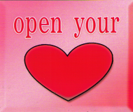 "Open Your Heart - Small Bumper Sticker / Decal (3"" X 2.5"")"
