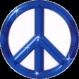 """Blue Peace Sign - Bumper Sticker / Decal (4.5"""" X 4.5"""")"""