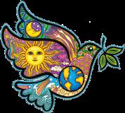 "Peace Dove - Bumper Sticker / Decal (4.5"" X 4.5"")"