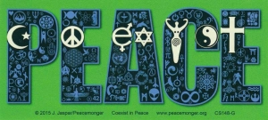 "Coexist in Peace - Bumper Sticker / Decal (7"" X 3"")"