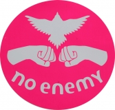 No Enemy - Pink - Bumper Sticker / Decal 4""
