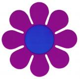 """Purple Daisy - Bumper Sticker / Decal (5"""" X 5"""")"""