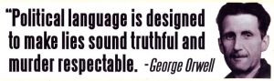 LS23 - Political Language is Designed to... - Bumper Sticker / Decal