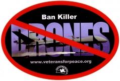 "Ban Killer Drones - Bumper Sticker / Decal (6"" X 4"")"