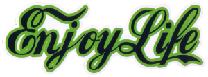 "Enjoy Life - Bumper Sticker / Decal (8.5"" X 2.5"")"