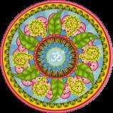 "Om Mandala - Bumper Sticker / Decal (4.5"" Circular)"