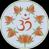 """Rose Om - Bumper Sticker / Decal (4.5"""" Circular)"""