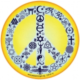 "Coexist Peace Sign - Bumper Sticker / Decal (5"" Circular)"