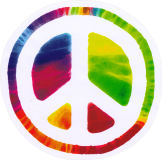 "Psychedelic Peace Sign - Bumper Sticker / Decal (4.75"" Circular)"