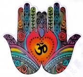 """Om Hands - Bumper Sticker / Decal (4.5"""" X 4.25"""")"""