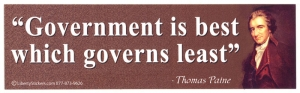 LS28 - Government is Best Which Governs Least - Thomas Paine - Bumper Sticker