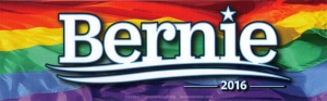 "Bernie 2016 Rainbow - Bumper Sticker / Decal (9.5"" X 3"")"