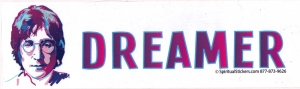 "Dreamer - Bumper Sticker / Decal (10.5"" X 3"")"