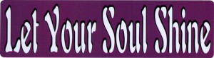 "Let Your Soul Shine - Bumper Sticker / Decal (9"" X 2.5"")"