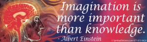 Imagination Is More Important Than Knowledge - Albert Einstein - Bumper Sticker