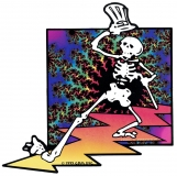 "Grateful Dead Lightening Walker - Bumper Sticker / Decal (6.5"" X 6.5"")"