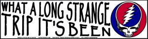 What A Long Strange Trip It's Been - Grateful Dead - Bumper Sticker / Decal (11.