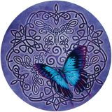 "Celtic Butterfly - Bumper Sticker / Decal (4.5"" Circular)"