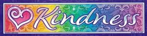 "Kindness - Bumper Sticker / Decal (11"" X 2.75"")"