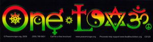 "Rasta One Love - Small Bumper Sticker / Decal (5.5"" X 1.5"")"