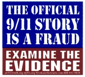 The Official 9/11 Story is a Fraud - Examine the Evidence - Mini-Sticker