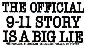 MS141 - The Official 9-11 Story Is A Big Lie - Mini-Sticker