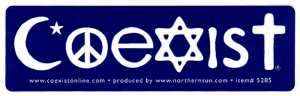 "MS142 - Coexist - Mini-Sticker (5"" X 1.5"")"