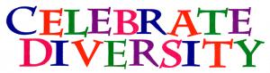 "MS144 - Celebrate Diversity - Mini-Sticker (5.5"" X 1.5"")"