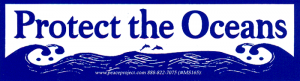 "Protect Our Oceans - Small Bumper Sticker / Decal (5.25"" X 1.5"")"
