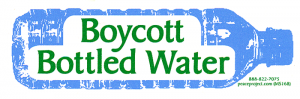 "Boycott Bottled Water - Small Bumper Sticker / Decal (5"" X 1.75"")"