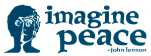 "Imagine Peace - John Lennon - Small Bumper Sticker / Decal (4.25"" X 1.75"")"