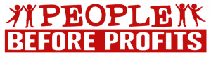 "People Before Profit - Small Bumper Sticker / Decal (5.25"" X 1.75"")"