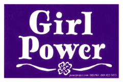 "Girl Power - Small Bumper Sticker / Decal (4"" X 2.5"")"