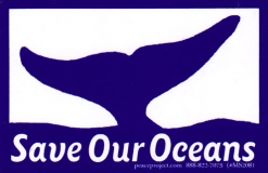 "Save Our Oceans - Small Bumper Sticker / Decal (4"" X 2.5"")"