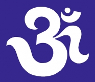 "Om - Small Bumper Sticker / Decal (3"" X 2.5"")"