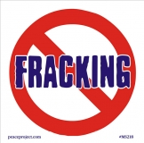 "No Fracking - Small Bumper Sticker / Decal (3.5"" X 3.5"")"