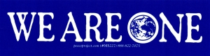 "We Are One - Small Bumper Sticker / Decal (5.25"" X 1.5"")"