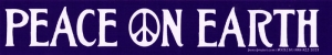 "Peace on Earth - Small Bumper Sticker / Decal (8.5"" X 1.5"")"