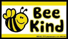 "Bee Kind - Small Bumper Sticker / Decal (4.25"" X 2.5"")"