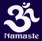 """Namaste - Small Bumper Sticker / Decal (3.25"""" Square)"""