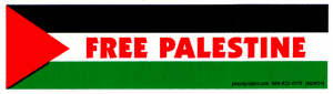 "Free Palestine - Small Bumper Sticker / Decal (5.75"" X 1.75"")"