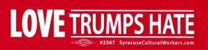 """Love Trumps Hate - Small Bumper Sticker / Decal (6"""" X 1.5"""")"""