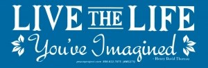 Live the Life You've Imagined - Henry David Thoreau - Small Bumper Sticker