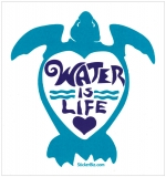 "Water is Life - Small Bumper Sticker / Decal (3.5"" X 4"")"