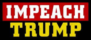 "Impeach Trump - Small Bumper Sticker / Decal (4.75"" X 2.25"")"