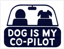 """Dog is My Co-pilot - Small Bumper Sticker / Decal (3.75"""" X 3"""")"""