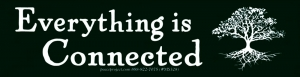 "Everything is Connected - Small Bumper Sticker / Decal (7"" X 1.75"")"