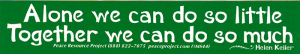 MS44 - Alone We Can Do So Little, Together We Can Do So Much - Mini-Sticker