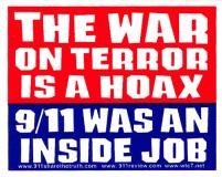 The War On Terror is a Hoax - 9/11 Was An Inside Job - Small Bumper Sticker